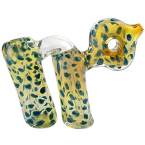 "4.5"" Double Chamber Donut Work Bubbler Hand Pipe (MSRP $50.00)"