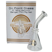 "On Point Glass - 5"" Thermal Banger Mini Rig & Carb Cap Box Set (MSRP $45.00)"