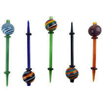 Color Swirl Carb Cap Dabber Combo (MSRP $25.00ea)