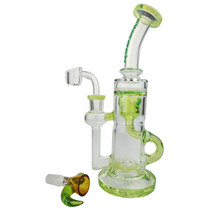 "Cheech Glass - 9"" Inner Recycler Water Pipe - with 14M Bowl & 4mm Banger (MSRP $145.00)"