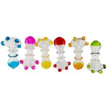 3'' Double Rim Neon Color Spoon Hand Pipe (MSRP $20.00ea)