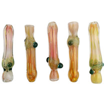 "3.5"" Gold Fumed Spiral Work Chillum - 5 Pack (MSRP $30.00)"