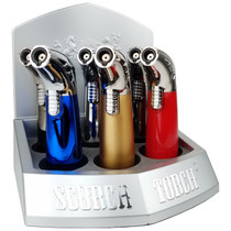 "5"" 45Deg Assorted Color Smooth Curve Lighter  - Display of 6 (MSRP $15.00ea)"