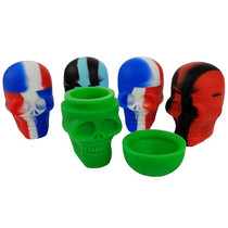 Silicone Storage 56mm 15ml - Skull - 5 Pack (MSRP $5.00ea)