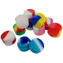 Silicone Storage 22mm 02ml - Mixed Color Jar - 10 Pack (MSRP $3.00ea)