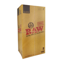 RAW® - Classic Pre-Rolled Cone K/S (BULK) - Display of 1400 (MSRP $3.00ea)