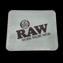 RAW - Glass Rolling Tray With Ice Logo - Large (MSRP $60.000