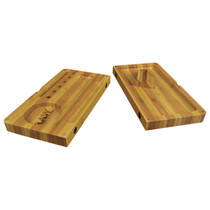 RAW® - Striped Bamboo Rolling Tray - Magnetic Flip (MSRP $60.00)