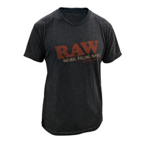 RAW® - Unisex Distressed Logo T-Shirt - Black Tri-Blend (MSRP $30.00)