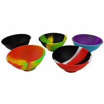 """2.5"""" Assorted Color Silicone Bowl - 5 Pack (MSRP $6.00ea)"""