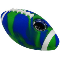"""4"""" Silicone Football Spoon Hand Pipe - Single Assorted (MSRP $25.00)"""