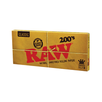 RAW® - Classic Rolling Papers K/S Slim 200's (200ct) - Display of 40 (MSRP $4.50ea)