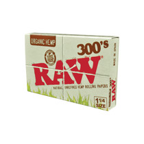 RAW® - Organic Hemp Rolling Papers 1¼ 300's (300ct) - Display of 40 (MSRP $4.50ea)