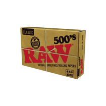 RAW® - Classic Rolling Papers 1¼ 500's (500ct) - Display of 20 (MSRP $6.00ea)