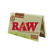 RAW® - Organic Hemp Rolling Papers Single Wide (Double Feed) 100ct - Display of 25 (MSRP $2.00ea)
