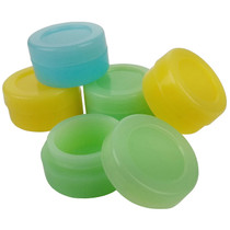 Silicone Storage 38mm - Glow In The Dark Jar - 5 Pack (MSRP $4.00ea)