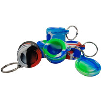 Silicone Storage Key Chain Storage Jar - Assorted Colors - 5 Pack (MSRP $3.50ea)