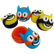 Silicone Storage 45mm 15ml - Clock Cat - Assorted Colors - 5 Pack (MSRP $5.50ea)