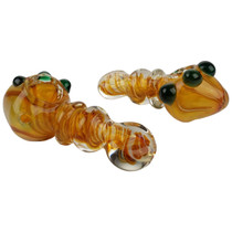 "4"" Gold Fumed Spiral Tube Spoon Hand Pipe - 2 Pack (MSRP $35.00)"