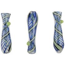 "3.5"" Spiral Slyme Work Chillum Hand Pipe - 3 Pack (MSRP $30.00ea)"