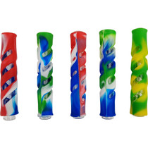 """3.5"""" Silicone Encased Chillum Hand Pipe - 5 Pack (MSRP $15.00ea)"""