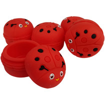 Silicone Storage 45mm 15ml - Red Ladybug - 5 Pack (MSRP $5.00ea)
