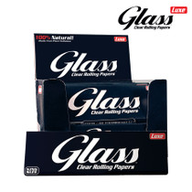 Luxe - Glass Clear Rolling Papers Cellulose K/S - Display of 24 (MSRP $2.50ea)