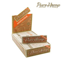 Pure Hemp - Unbleached Rolling Papers 1¼ - Display of 25 (MSRP $1.75ea)