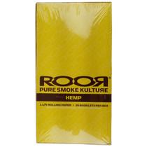 ROOR® - Hemp Rolling Papers 1¼ - Display of 25 (MSRP $2.00ea)