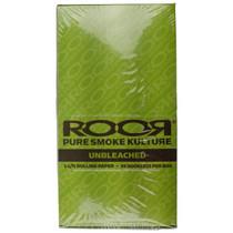 ROOR® - Unbleached Rolling Papers 1¼ - Display of 25 (MSRP $2.00ea)