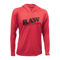 RAW® - Mens Lightweight Hoodie - Red (MSRP $40.00)