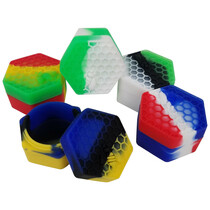 Silicone Storage 48mm 10ml - Honeycomb - 5 Pack (MSRP $7.00ea)