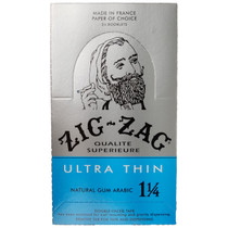 Zig Zag - Ultra Thin Rolling Papers 1¼ - Display of 24 (MSRP $3.25ea)