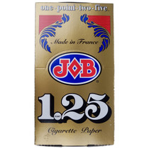 JOB - Gold Rolling Papers 1.25 - Display of 24 (MSRP $3.25ea)