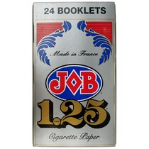 JOB - Silver Rolling Papers 1.25 - Display of 24 (MSRP $3.25ea)