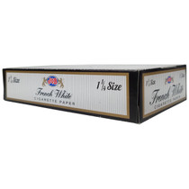 JOB - French White Rolling Papers 1¼ - Display of 24 (MSRP $3.25ea)