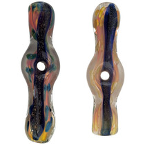 "3.5"" Gold Fumed Dicro Donut Chillum Hand Pipe - 2 Pack (MSRP $30.00ea)"