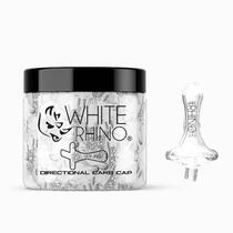 White Rhino - Directional Carb Cap - 20ct Jar (MSRP $20.00ea)