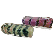 "3.5"" Slyme Wave Square Body Spoon Hand Pipe - 2 Pack (MSRP $30.00ea)"