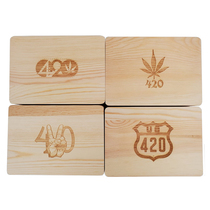 420 Design Wooden Dabber Storage Box Set - Single Assorted (MSRP $20.00)