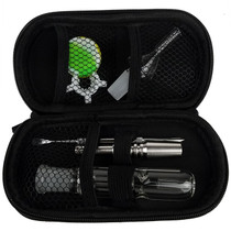 "6.5"" Nectar Pipe Zipper Case Set with Glass & Stainless Steel Tip - 14mm (MSRP $40.00)"