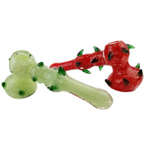 "7"" Spike & Frit Work Bubbler Hand Pipe (MSRP $65.00)"