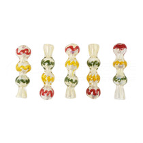 "3"" Rasta Chillum Hand Pipe - 5 Pack (MSRP $20.00ea)"