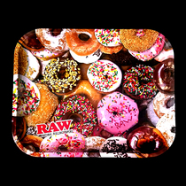 RAW - Metal Rolling Tray Donut Themed - Large (MSRP $15.00)