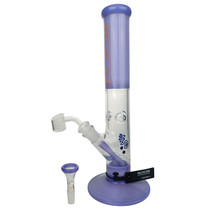 "ROOR - 14"" Purple Straight Water Pipe - with 14M Bowl & 4mm Banger (MSRP $430.00)"