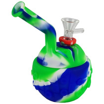 """6"""" Silicone Ball Bubbler Water Pipe - with 14M Bowl (MSRP $20.00)"""
