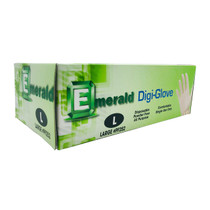 Emerald Digi Gloves - Powder Free Disposable Latex Gloves 100pc Pack - 10ct Case (MSRP $13.00ea)