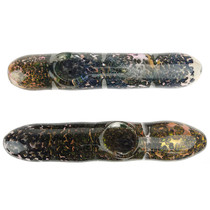 "6"" Gold Fumed Frit Work Steam Roller Hand Pipe - 2 Pack (MSRP $55.00ea)"