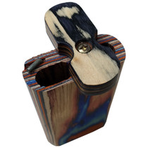 "4"" Multicolor Wood Dugout - with Metal Poker (MSRP $9.00)"