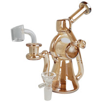 "7.5"" High Gloss Multi Arm Recycler Water Pipe - with 14M Bowl & 4mm Banger (MSRP $65.00)"